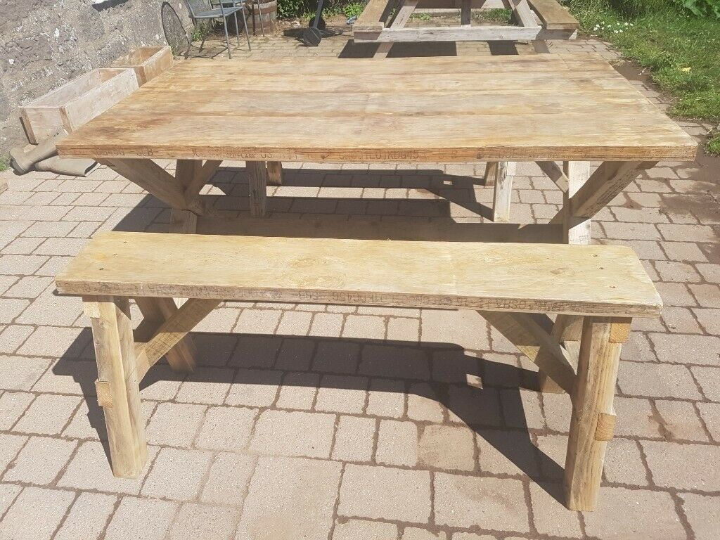 Rustic Wooden Garden Furniture Sy Hard Wearing And Handmade
