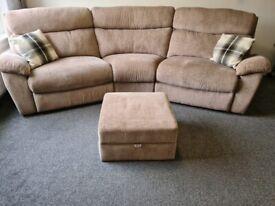 SCS 4 seater corner cloud sofa - electric recliner