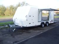 Brian James Racesport Covered / Enclosed Car Transporter Trailer (Used)