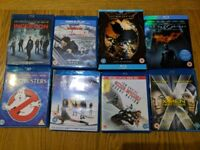 Selection of Blu-Ray films for sale