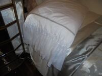 Brand new pair vintage style shabby chic pillowcases ( white ) 50 x 70