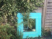 Garden Mirror - Turquiose/blue
