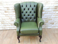 Chesterfield Antique green armchair (Delivery)