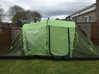 Tent 4 man(4sleeping bags&2 double air beds)