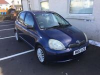 BARGAIN TOYOTA YARIS 1.0 LONG MOT RELIABLE CAR PX WELCOME £475