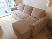 3 Seater Corner Sofa-bed with Storage