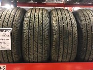 TRAX 0220 4- 205/55/16 BRIDGESTONE TURANZA EL 400 ALL SEASON TIRES $300 set