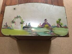 Vintage very pretty hand painted Mirror Art Deco Style