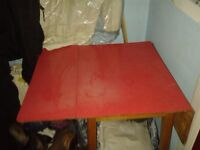 Red Extendable Table