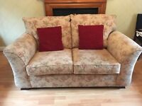 Pale gold two seater sofa for sale
