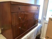 BEITHCRAFT VINTAGE CHEST OF DRAWERS WITH GLASS TOP VGC. CAN DELIVER
