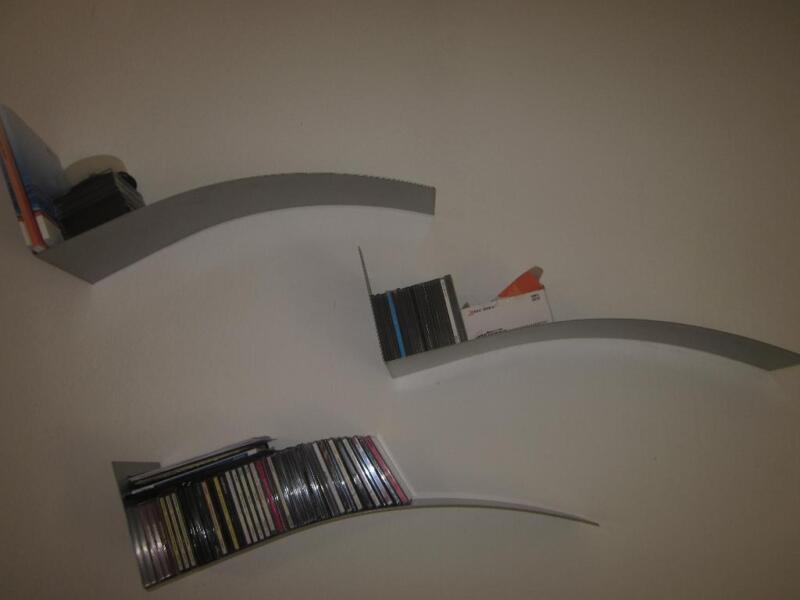 3 silbermatte geschwungene regale von ikea in bayern bad neustadt a d saale ebay kleinanzeigen. Black Bedroom Furniture Sets. Home Design Ideas