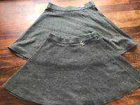 2 grey girls school skirts aged 7 years