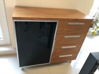 Compact Dwell walnut sideboard with drawers
