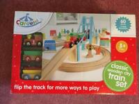 Brand New Wooden Train Track Set