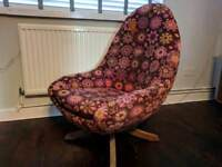 Mid Century Greeves & Thomas Egg Chair, GPlan & Ercol era.
