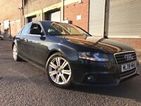 Audi A4 2008 2.0 TDI SE 4 door FULL SERVICE HISTORY, FACELIFT, LOW MILES, 3 MONTHS WARRANTY, BARGAIN