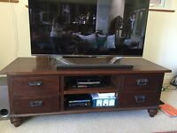 Beautiful Teak Wood TV Cabinet with Drawers