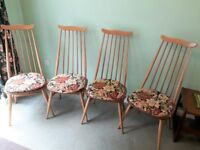 4 Ercol Dining Chairs with cushions (if needed)