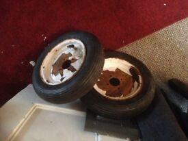 Trelleborg light industrial tyres x2