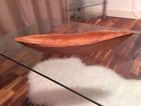 URGENT - Teak Wood Centrepiece - New