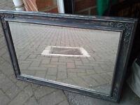 32ins x 22ins - Large Bronze Mirror - Beveled Edge Glass