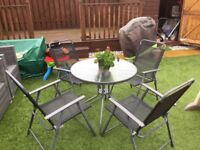 Garden furniture set - table and chairs