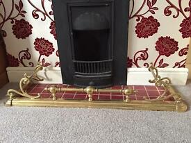 Large Brass Fireplace Fender