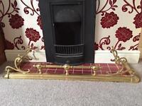 Large Brass Fireplace Fender