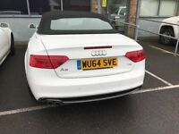 gorgeous white audi a5 cabriolet s line special edition