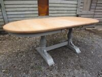 Fully Refurbished - Gorgeous Karel Mintjens Solid Oak Extending Dining Table Painted Farrow & Ball