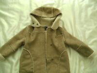 ZARA GIRLS FAUX SHEEPSKIN COAT AGE 5/6