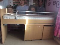 Bunk bed with storage & table