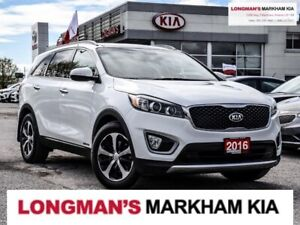 2016 Kia Sorento 1OWN|EX+|7PASS|LEATHER|PANO|BLND-SPT|V6|