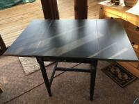 Black extendable IKEA dining table