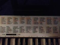 Yamaha Portatone Electric Keyboard PSR-125. Hardly used so in great condition. Full instructions.