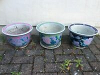 Flower pots set of three
