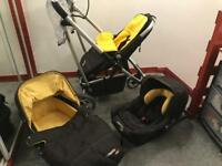 3 in 1 buggy Pram car seat baby
