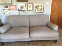 The White Company Petersham Sofa 3 seater Ian Mankin fabric