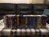 VHS movie cassets