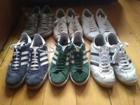 5 x Used Adidas Trainers and 1 x Used Nike Trainers - Job Lot - All Size 9