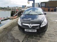 2007 VAUXHALL CORSA 1.2 CLUB AC 49K MILES BLACK MOT 5 DOOR