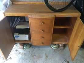 Retro Solid wood Side Board