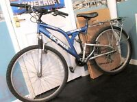 Men's blue Warrior mountain bike