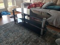 Black TV Stand For Sale - Great Condition