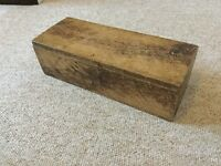 VINTAGE HOME MADE WOODEN STORAGE BOX, TEXTURED, IDEAL SHABBY CHIC OR UPCYCLE PROJECT