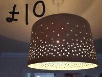 2x lamp shade excellent