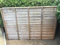 2 6Ftx4Ft Fence Panels