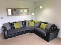 Leather & Suede corner sofa