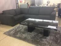 Natuzzi Editions B978 Mattia dark grey corner sofa